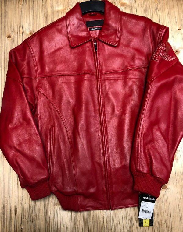 Red Pelle Pelle Leather Jacket