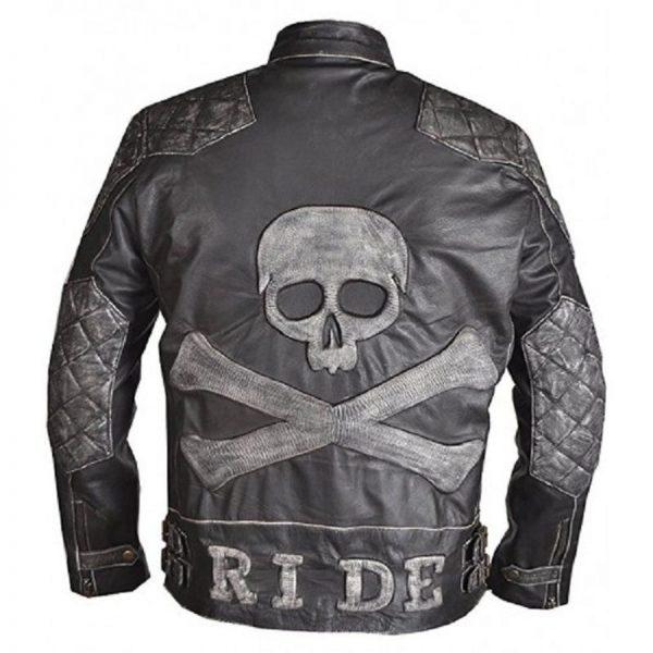 Skulls Leather Jacket
