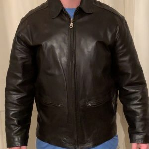 Structure Leather Jacket