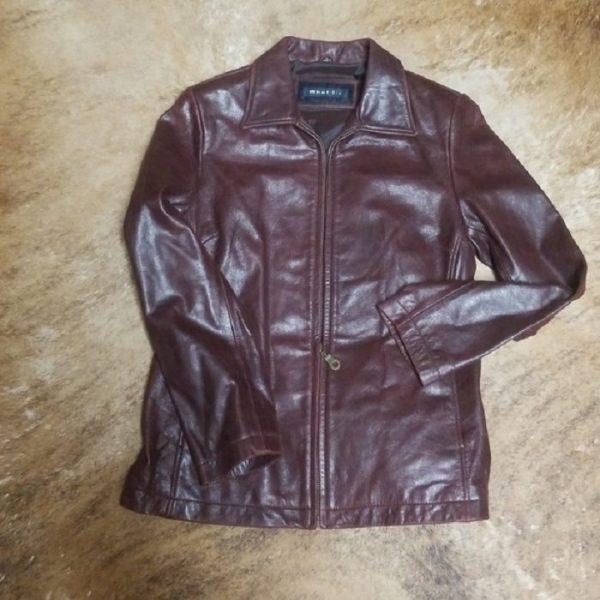 Whet Blue Leather Jacket