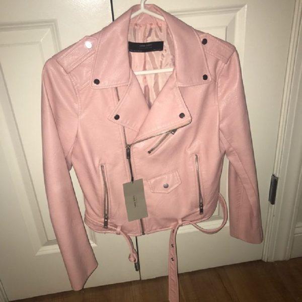 Zara Pink Leather Jacket