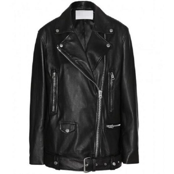 Acne More Leather Jacket