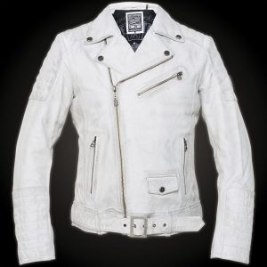 Affliction White Leather Jacket