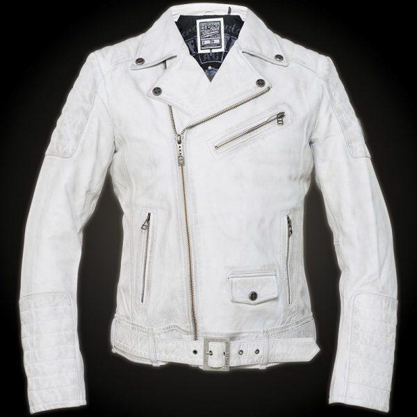 Affliction White Leather Jacket