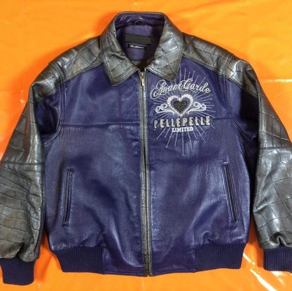Blue Pelle Pelle Leather Jacket