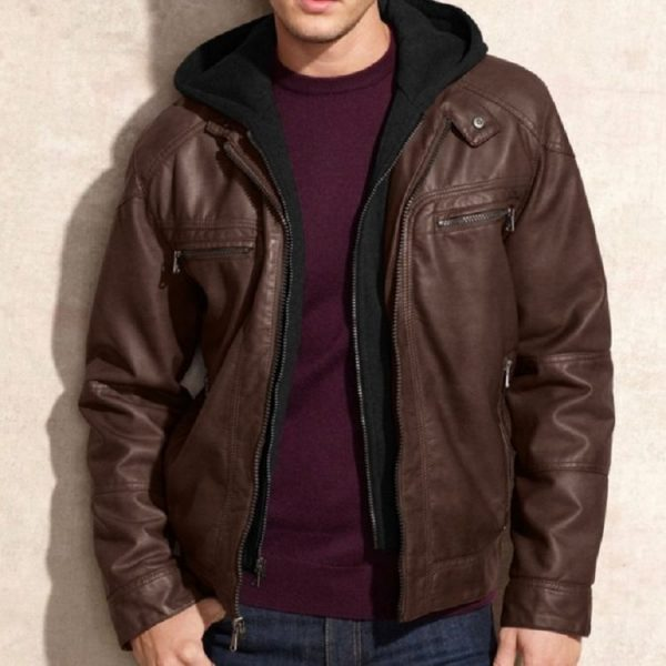 Calvin Klein Brown Leather Jacket