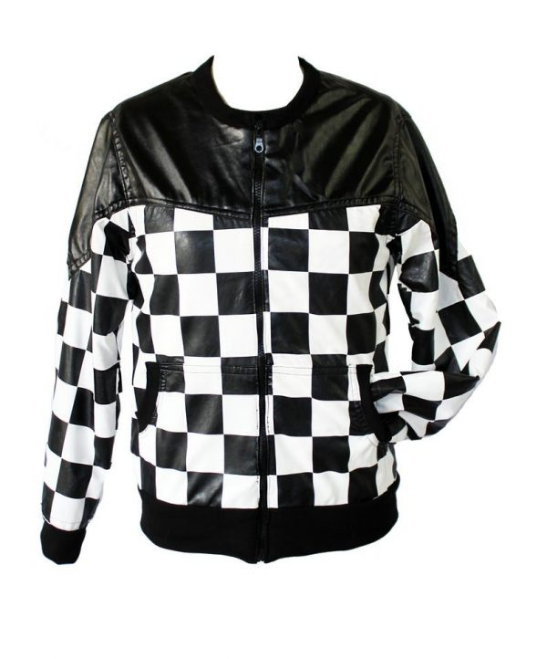 Checkered Leather Jacket