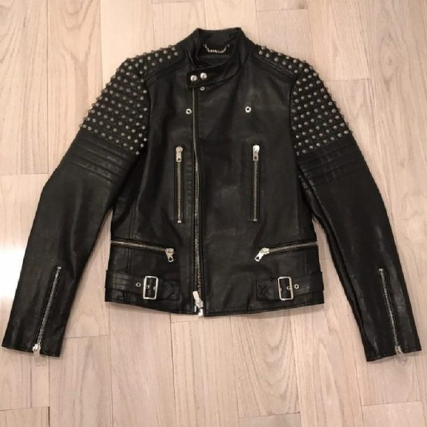 Diesels Black Gold Leather Jacket