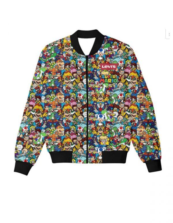 Levis Super Mario Characters Bomber Jacket