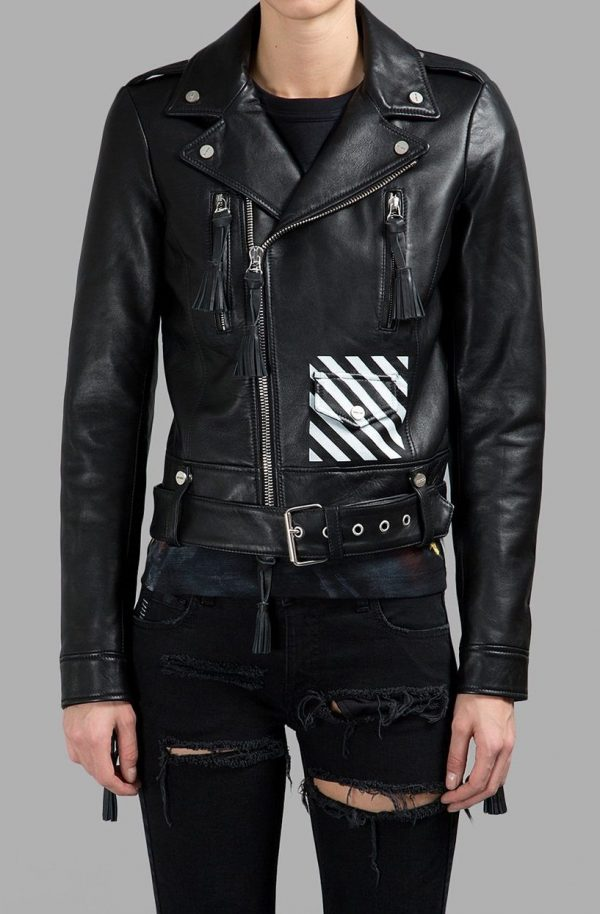 Off White Leather Jacket Virgil