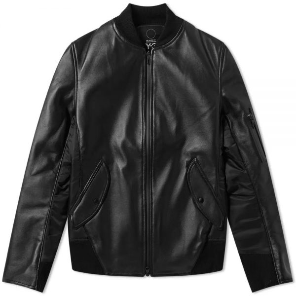 Y 3 Leather Jacket