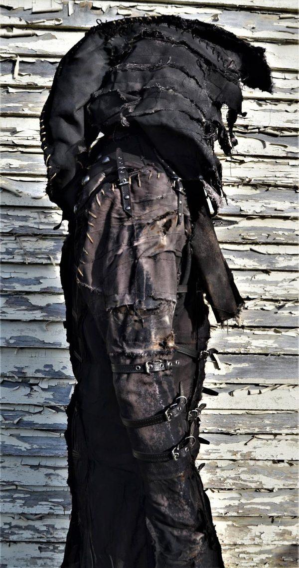 he Goblin SceneSick Stage Wear Ceremonial Robe Horror Costume Fantasy Black Metal Rock Cosplay Wardrobe Hood Nightmare