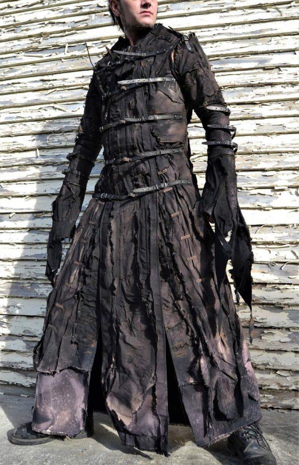 he Goblin SceneSick Stage Wear Ceremonial Robe Horror Costume Fantasy Black Rock Cosplay Wardrobe Hood Nightmare
