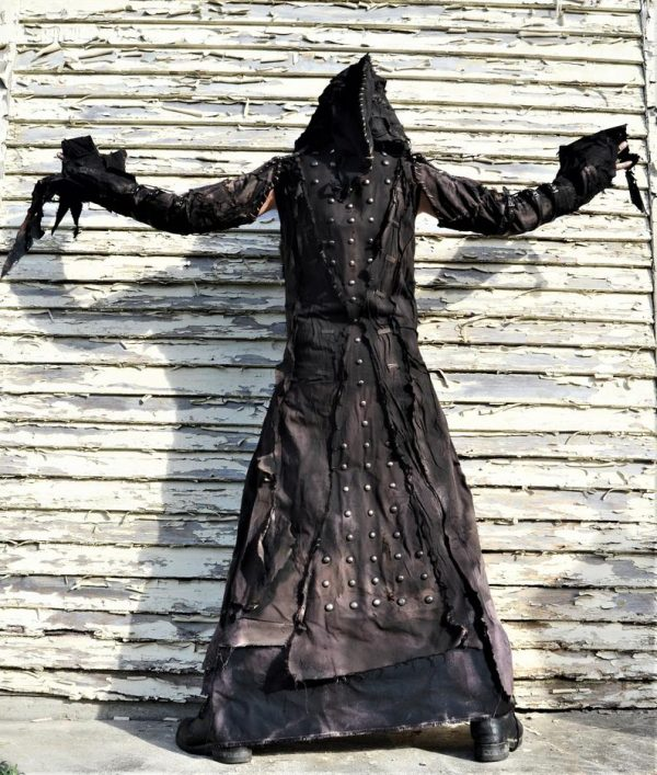 he Goblin SceneSick Stage Wear Robe Horror Costume Fantasy Black Metal Rock Cosplay Wardrobe Hood Nightmare
