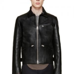 Acne Leather Jacket Men