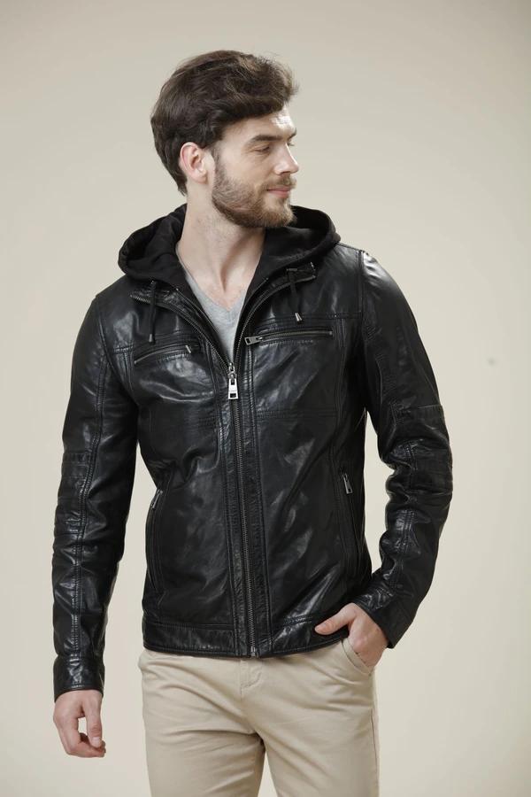 Daniers Hooded Leather Jacket