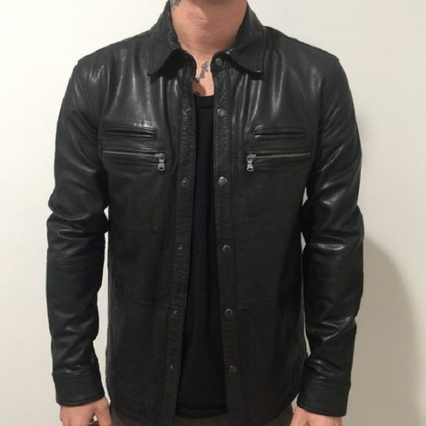 John Varvatos Lambskin Leather Jacket