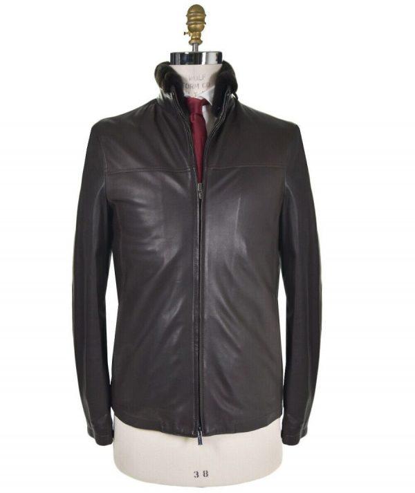 Kiton Leather Jacket