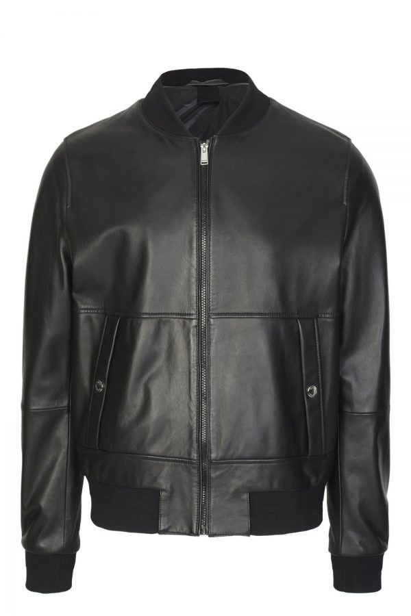 Leather Jacket Hugo Boss