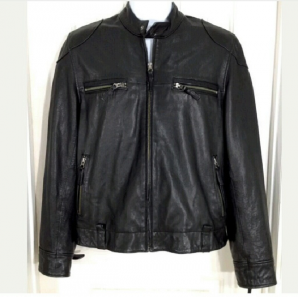 Lucky Brand Cafe Racer Leather Jacket