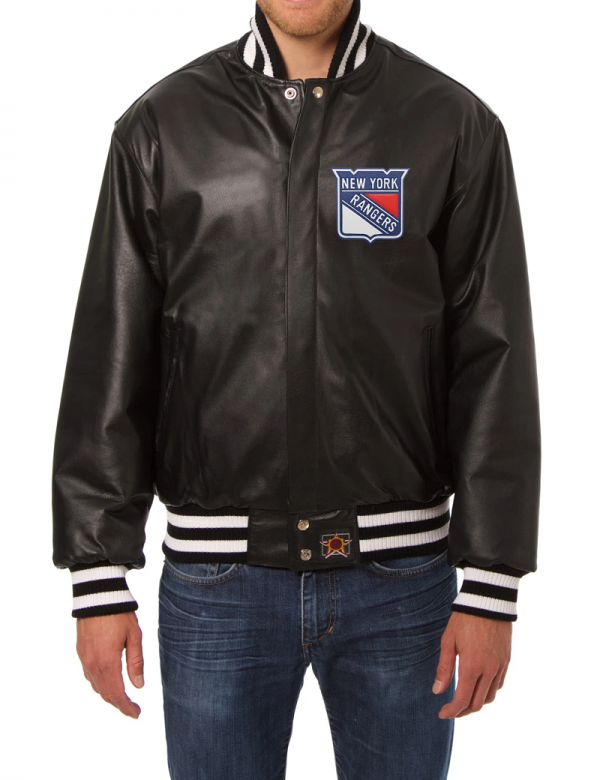 New Yorks Rangers Leather Jacket