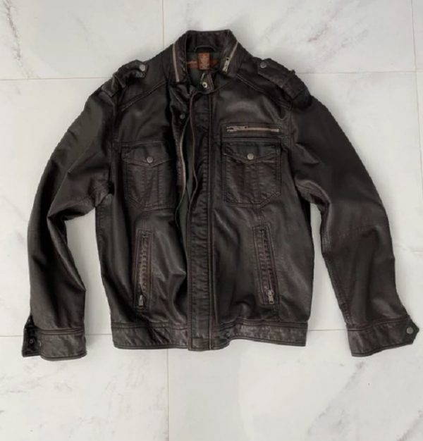 Perry Ellis Leather Jacket