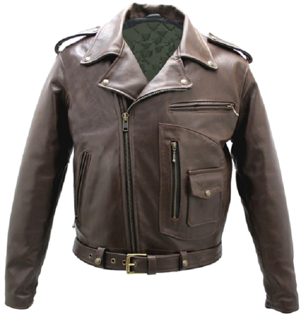 D Pocket Leather Jacket