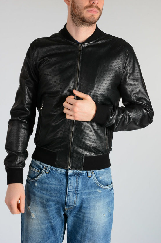 Dolce Gabbana Mens Leather Jacket
