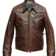 Half Belt Leather Jacket