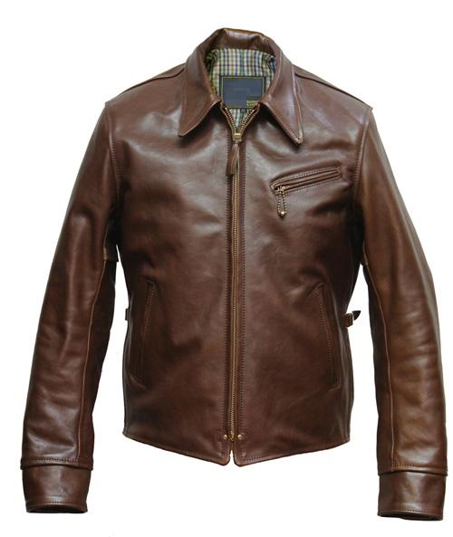 Half Belt Leather Jacket