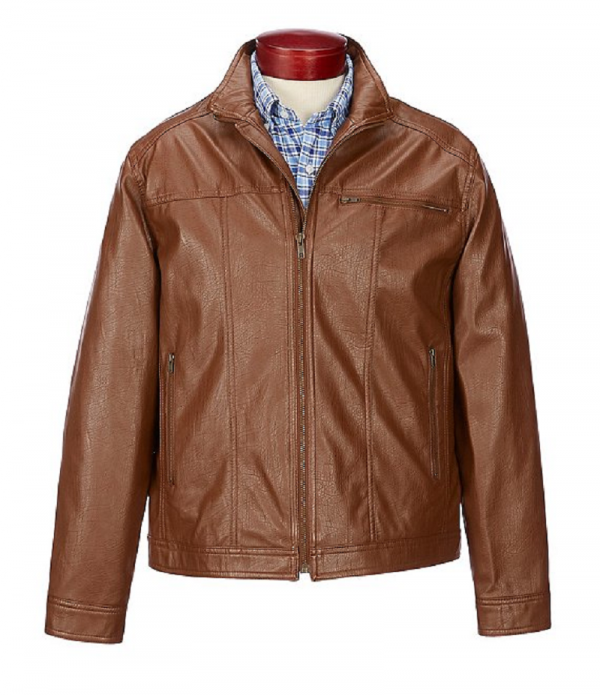 Roundtree And Yorke Brown Leather Jacket