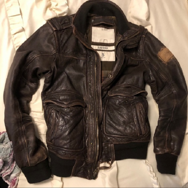 Abercrombie Leather Jacket Mens
