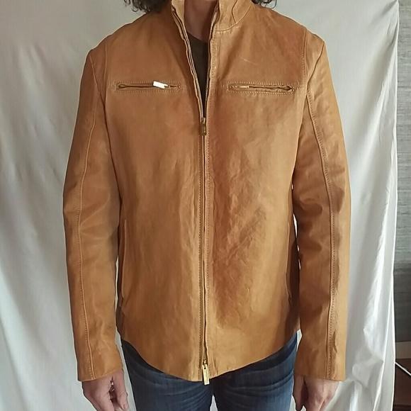 Armani Collezioni Lambskin Leather Jacket