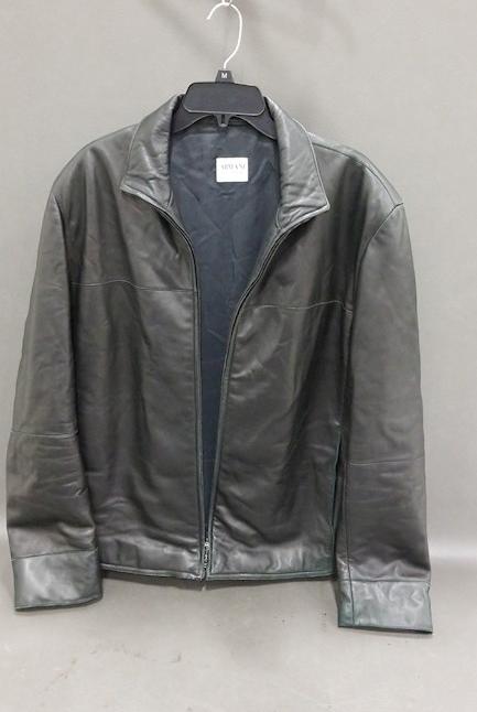 Armani Collezioni Mens Leather Jacket