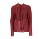 Balmains Red Leather Jacket