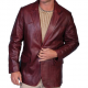 Black Cherry Leather Jacket