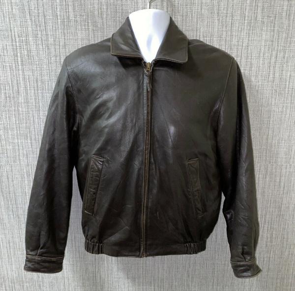 Brooks Brothers Mens Leather Jacket