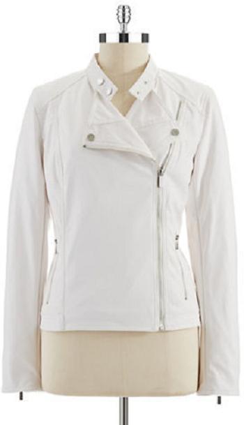 Calvin Klein White Leather Jacket