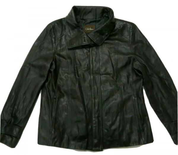 Cole Haan Black Leather Jacket