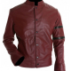 Diesel Red Leather Jacket
