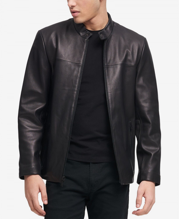 Dkny Leather Jacket Mens