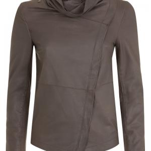 Drape Necks Leather Jacket