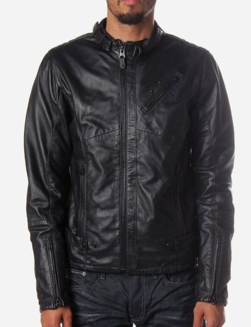G Star Leather Jacket Mens