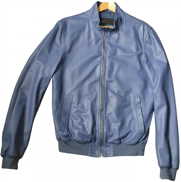 Gucci Blue Leather Jacket
