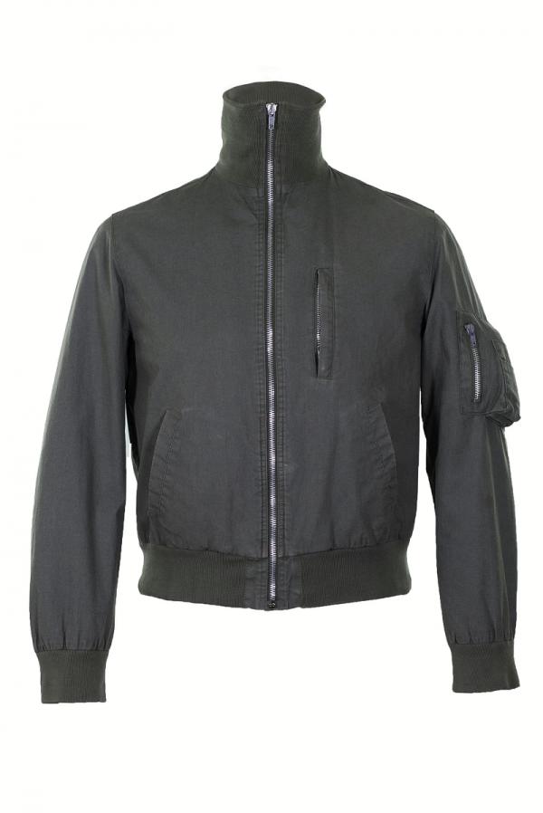 Helmut Lang High Collar Leather Jacket