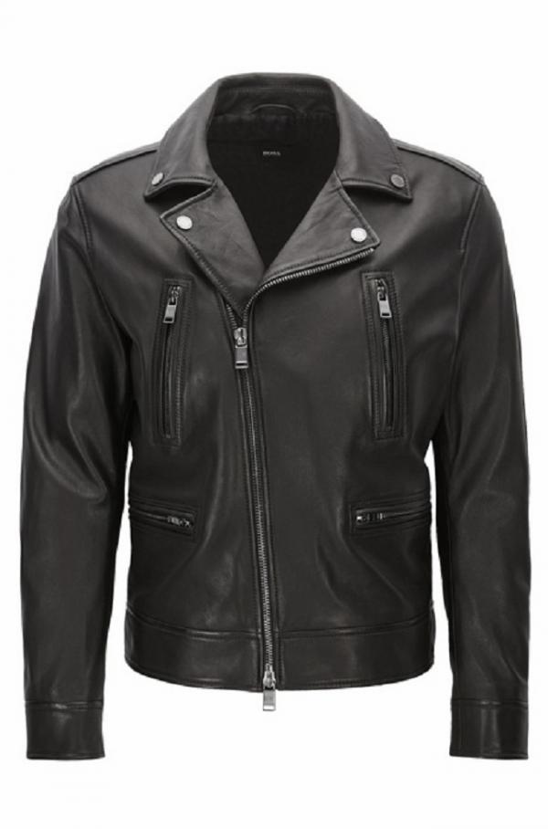 Hugo Boss Black Leather Jacket