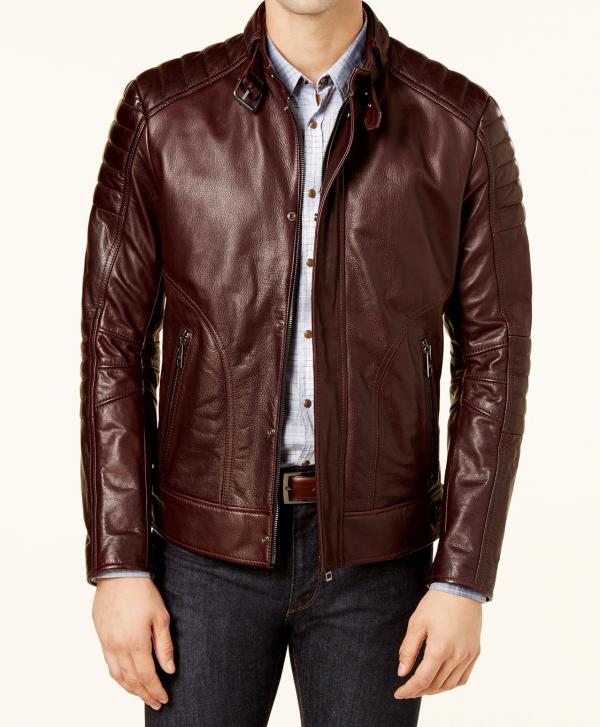 Hugo Boss Mens Leather Jacket