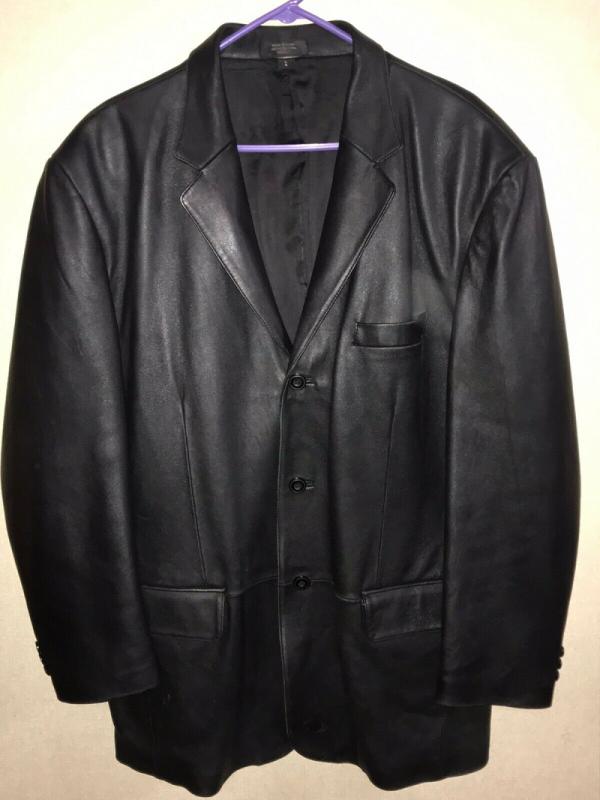 J Ferrar Leather Jacket Mens