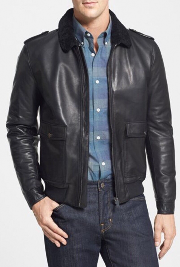 Kent And Curwen Leather Jacket