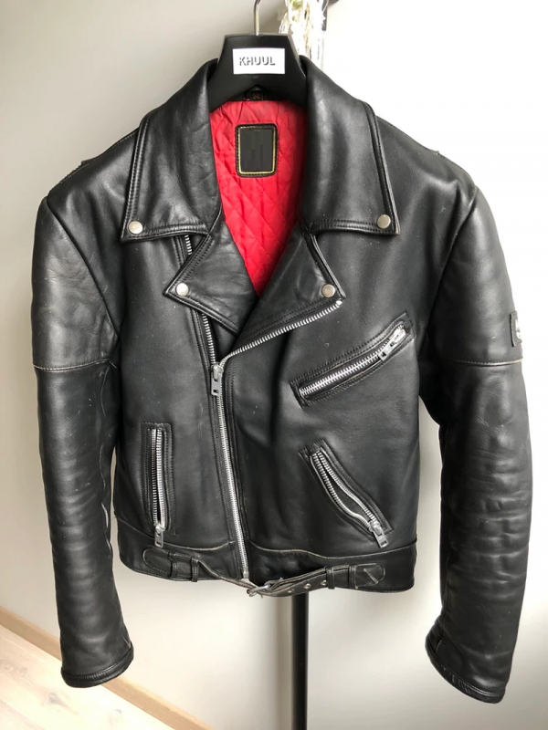 Leather Jacket Red Lining